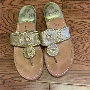 Gold with glitter sandles